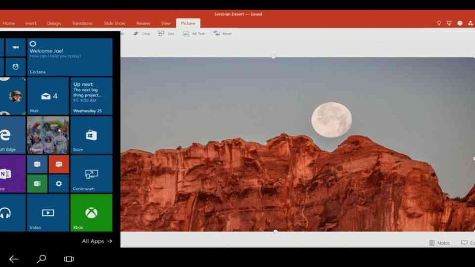 Le bureau complet de Windows 10 fonctionnera sur les nouveaux smartphones