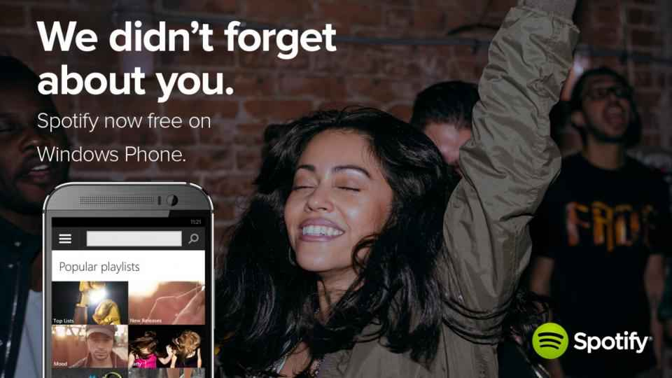 Le streaming gratuit de Spotify arrive enfin sur Windows Phone